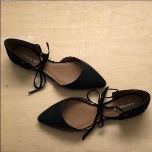 Coach Women's ankle tie flats size 10